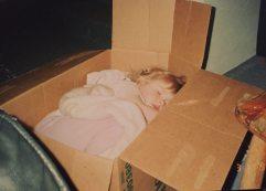 Sleeping in a box...