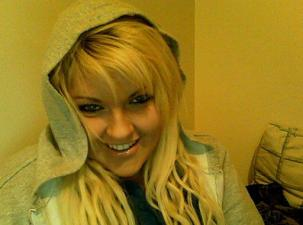 """2011 January-April ish, Very blond hair with 20"""" extensions and a fringe"""