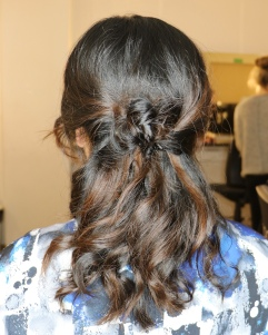 Wednesday: Fishtail braid twisted in to a mini bun